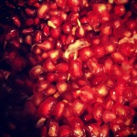 Bright pomegranate used in a Diana Henry salad